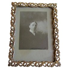 Unusual 19thC Picture Frame with Intertwined Snakes