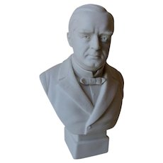 Antique William McKinley Parian Bust, Political History, Robinson Leadbeater