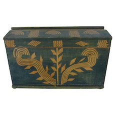 Antique Folk Art Grain Painted, Stenciled Trunk