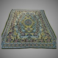 Antique Victorian, Edwardian Tapestry Tablecloth, Bedspread