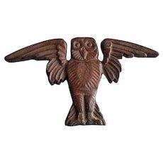 Antique Cast Iron Owl, Architectural Ornament, Garden