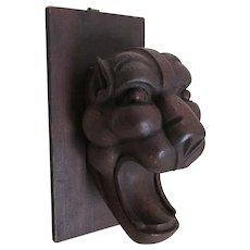 Antique 19thC Gargoyle, Hand Carved Oak, Gothic Architectural Element