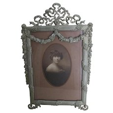 Lovely Edwardian Picture Frame with Flower Garlands, Mirror Frame