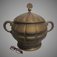 Rare German Arts & Crafts, Art Nouveau WMF, Hand Hammered Brass Vessel