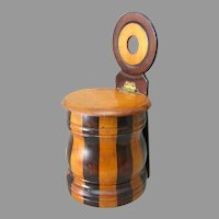 Antique Folk Art Treenware Wall Mount Box, Multi Color Wood