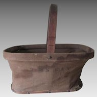 Rare 2nd Regiment Calvary Massachusetts Civil War Folding Basket