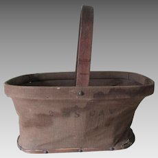 Rare 2nd Regiment Calvary Massachusetts Civil War Folding Basket