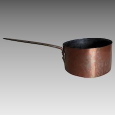 Antique Hand Made French Copper Pot, Dovetailed Construction