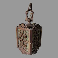 Pretty Antique Hanging Light, Architectural Ceiling Lamp