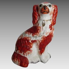 Antique 19th Century Staffordshire Spaniel Dog, Primitive Figurine