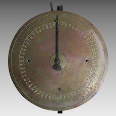 Rare Antique 600 Pound Brass Butcher or Farm Scale, Riehle Bros Philadelphia