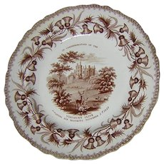 Rare Circa 1839 Staffordshire Transferware Plate, Viscount Clive, Political