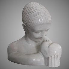 Rare Antique American, Mountainside Art Pottery Art Deco Bust, Mother & Baby