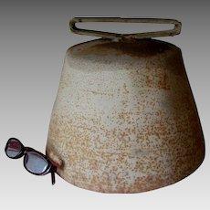 Giant Hand Made Bell, Folk Art Bell, Train, School, Country Town Bell