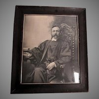 Antique Photograph of a Judge, Lawyer in Original Oak Picture Frame