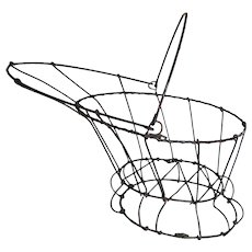 Antique Wire Ware Coal Scuttle, Topiary, Primitive Garden Basket