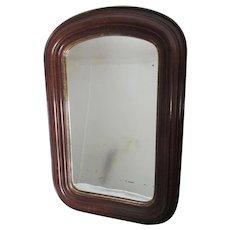 Antique Circa 1860s Blown Glass Mirror in Gothic Arch Frame