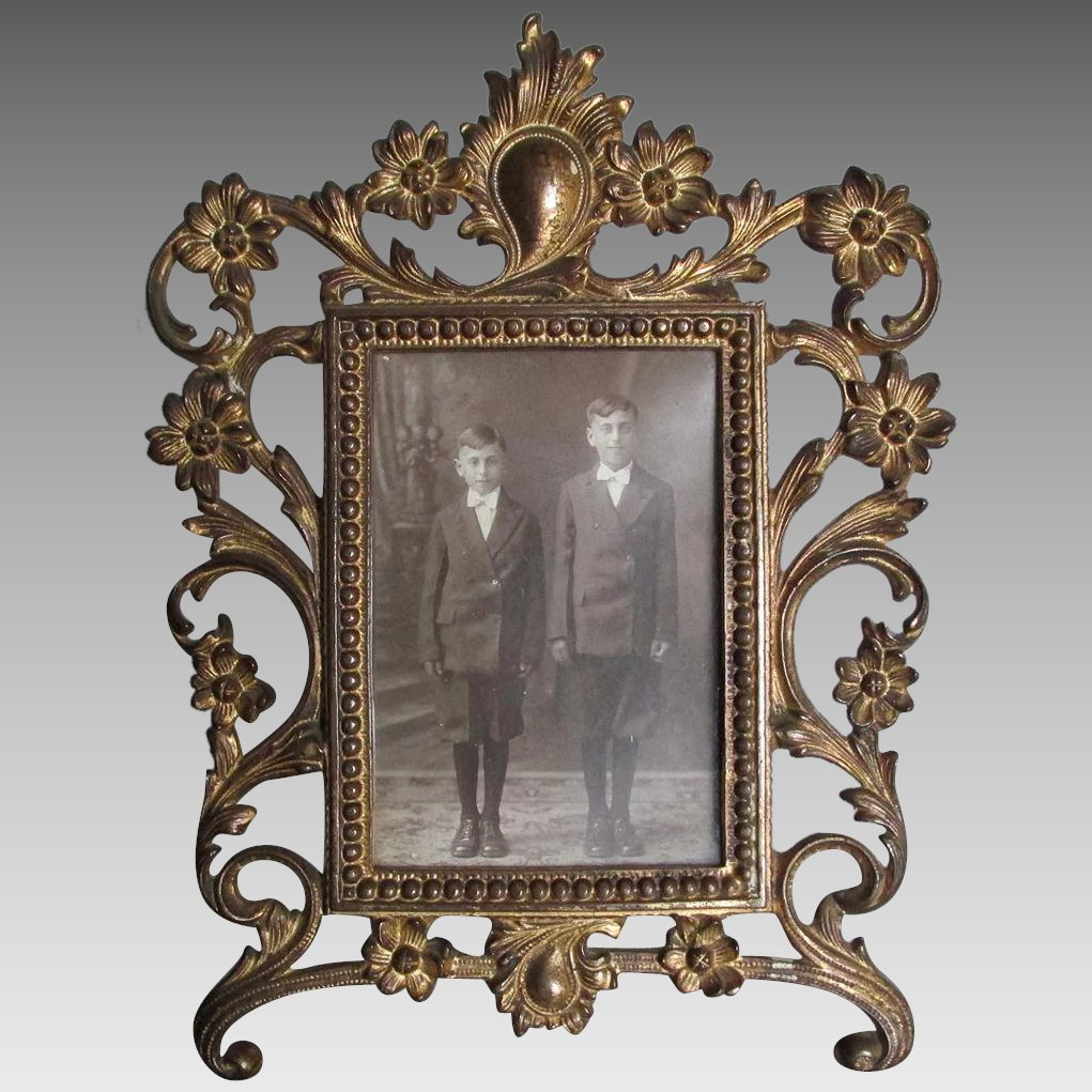 Pretty Antique Victorian, Edwardian Picture Frame with ...