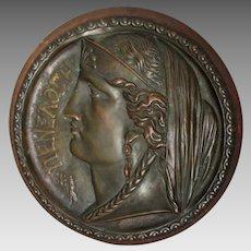 Lovely Antique Mythological Plaque of a Goddess