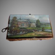 Antique 19thC Needlecase, Sewing Tape Measure, Chatsworth Derbyshire