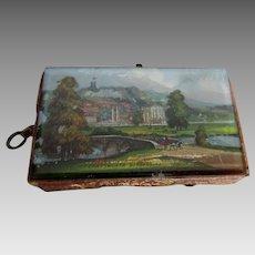 Antique 19thC Needlecase, Sewing Tape Measure, Chatsworth Derbyshire