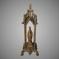 Antique French, Our Lady of Lourdes, Christian Gothic Grotto