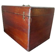 Antique 19thC Mahogany Box with Dovetail Construction