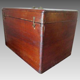 Antique 19thC Mahogany Box with Dovetail Construction