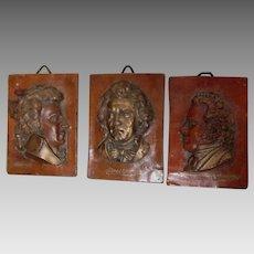 Antique German Wax Portraits, Famous Music Composers