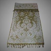 Rare Pair 19thC Antique Victorian Portiere, Curtains, Doorway Drapes