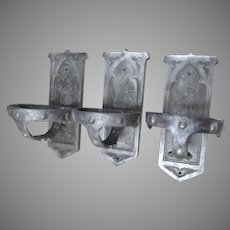 Set of Gothic Holy Water Font Holders, Architectural, Church Fixture