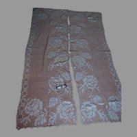 Lovely Antique Victorian, Edwardian Hand Made Lace Curtains with Roses