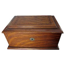 Antique Edwardian Oak Gambling, Poker Chip Case