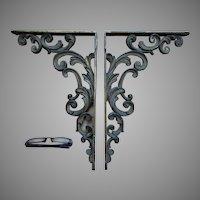 Antique Victorian Architectural Shelf Brackets, Corbels