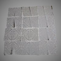 Beautiful Set of 12 European Hand Made Lace Table Placemats