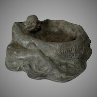 Antique French Art Nouveau Advertising Tray with Mermaid & Neptune