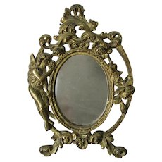 Antique Art Nouveau Picture Frame with Fairy, Angel, Roses