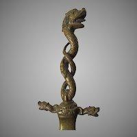 Antique Bronze Desk Top Letter Opener with Gargoyles, Dragons