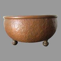 Antique Arts & Crafts Hand Hammered Copper Bowl