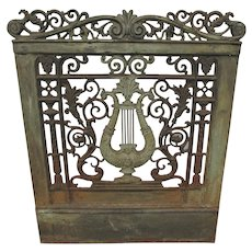 Beautiful Antique c1870s Architectural Element with Lyre