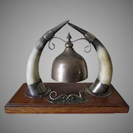 Antique Dinner Gong, Table Bell, Servant Call, Victorian, Edwardian