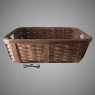 Antique Split Oak Laundry Basket, Country, Primitive Accessory