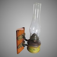 Antique c1880s Victorian Wall Mount Oil Lamp