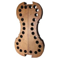 Vintage Wood Violin Maker's Jig, Musical Instrument Tool, Mold
