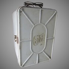 Antique Tin Tole Cake Box, Kitchen Cupboard