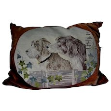 Lovely Needlepoint Tapestry with Spaniel Dogs, Sporting Hunting Dogs