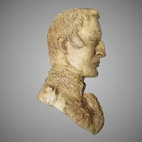 Antique English Wax Sculpture of the Duke of Wellington