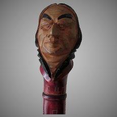 Vintage Hand Carved Native American Indian Cane, Walking Stick