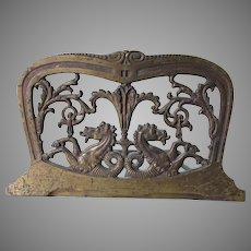 Antique Mythological Hippocampus, Sea Horse Expanding Bookends