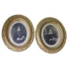 Antique Circa 1860s Gilded, Lemon Gold Picture Frames